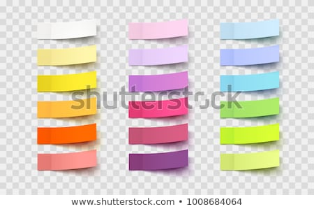 yellow check list post illustration design Stock photo © alexmillos