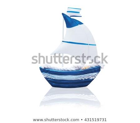 Navire jouet modèle plage faible bois Photo stock © macsim