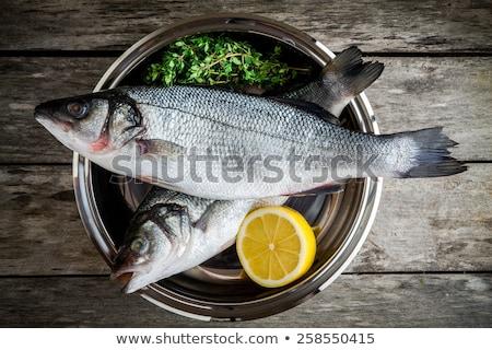 sea bass with lemon and parsley Stock photo © Antonio-S