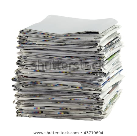pile of newspapers with clipping path stock photo © sqback