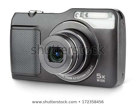 zwarty · aparat · cyfrowy · odizolowany · biały · moda · technologii - zdjęcia stock © sqback