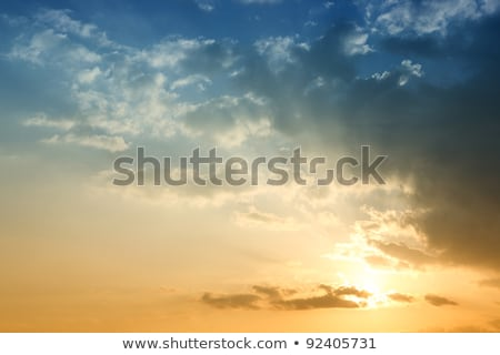Stock photo: Dramatic red blue sky on sunset evening vibrant colors