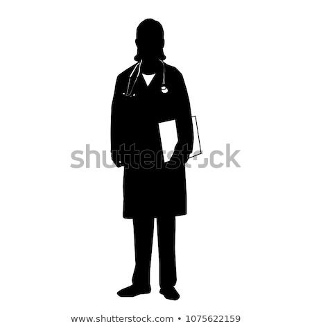 morena · indiano · jovem · feliz · médico · mulher - foto stock © lunamarina
