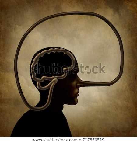 Nieuczciwy człowiek nosa długo jak Zdjęcia stock © ArenaCreative