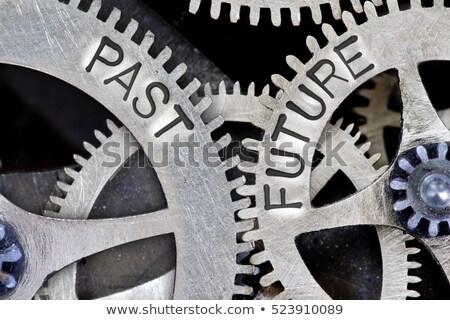 futuro · passado · direção · assinar · poste · de · sinalização · dois - foto stock © stevanovicigor
