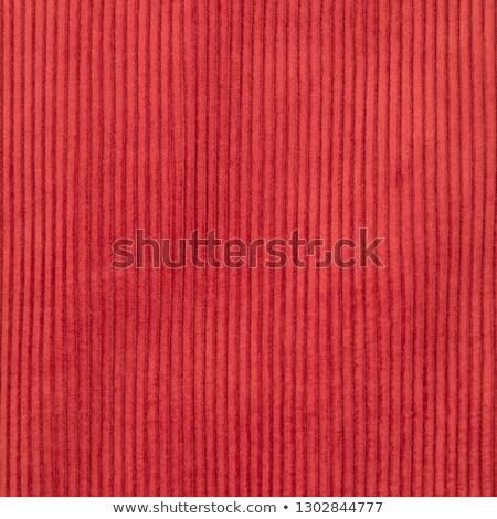 red corduroy textile background stock photo © pixelsaway