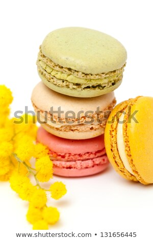 Four fluffy baked macaroon biscuits Stock photo © lovleah