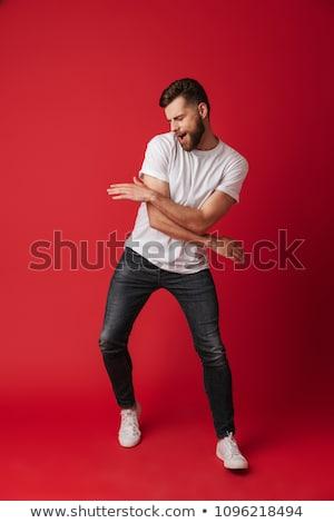 Stok fotoğraf: Adam · dans · genç · arka · plan · genç · serin