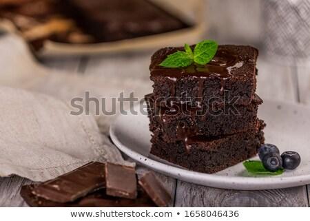 Brownies Dessert Stock photo © pxhidalgo