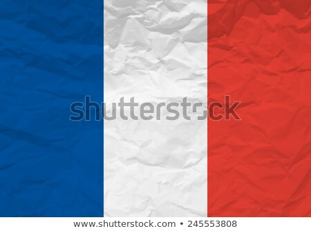France flag on Crumpled paper texture Stock photo © stevanovicigor