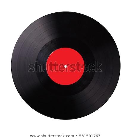 Lp bakelit lemez fekete zene klub Stock fotó © smuki