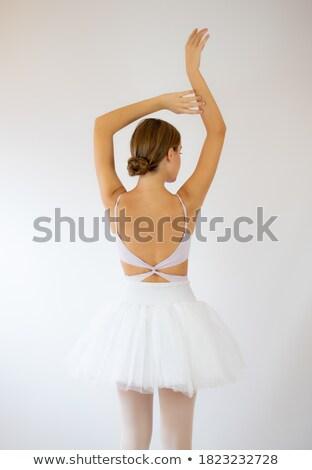 great portrait of the ballet dancer stock photo © konradbak
