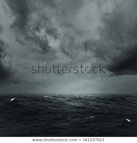pioggia · temporale · Ocean · luce · del · sole · cielo · nubi - foto d'archivio © tolokonov