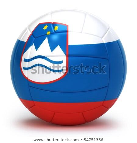 voleibol · equipe · isolado · fundo · azul - foto stock © bosphorus