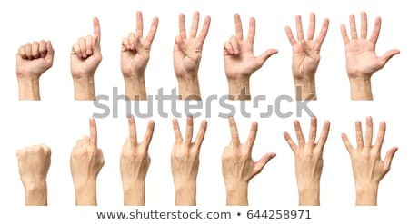 Close-up Of Human Hand Gesturing Number Two Stock photo © AndreyPopov