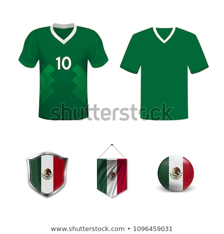 Flag of mexico with football in front of it Stock photo © MikhailMishchenko