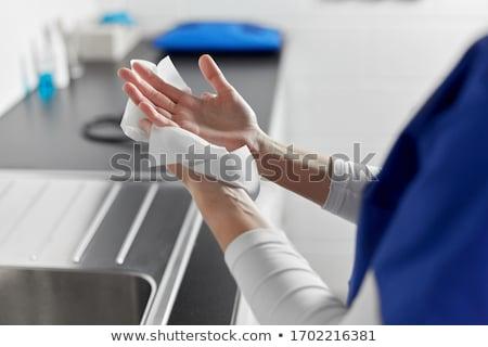 ペーパータオル · ロール · 紙 · 白 · ナプキン · 国内の - ストックフォト © marfot