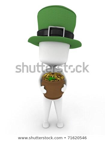 dorado · irlandés · arpa · tradicional · oro · verde - foto stock © texelart
