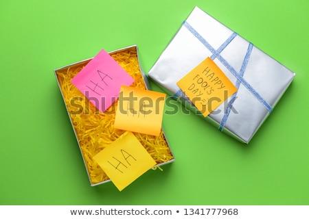 Eşek şakası hediye kırmızı tuğla şaka Stok fotoğraf © devon
