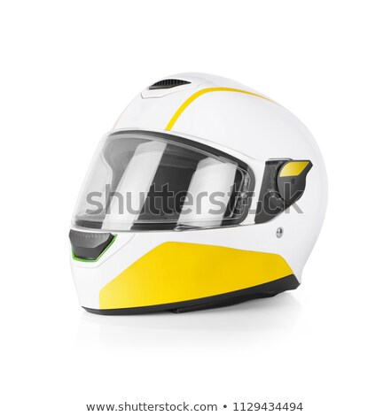Biker in helmet road motorbike  Stock photo © homydesign