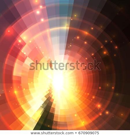 Orange 3D tunnel concentrique cercle modèle Photo stock © Melvin07