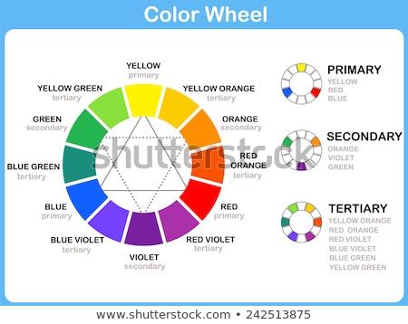 Сток-фото: цвета · колесо · печать · шаблон · графических · плитка