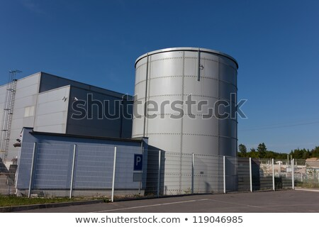 Industrie park schoorsteen huis gebouw bouw Stockfoto © meinzahn