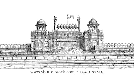 Photo stock: Architectural Detail Of Lal Qila - Red Fort In Delhi India