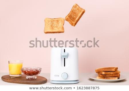 Tost kahvaltı tereyağı reçel kahve sarı Stok fotoğraf © Tagore75