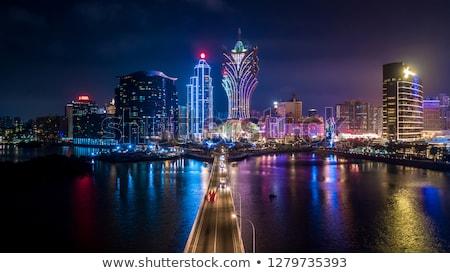 cityscape · ponte · arranha-céu · Ásia · cidade · pôr · do · sol - foto stock © leungchopan