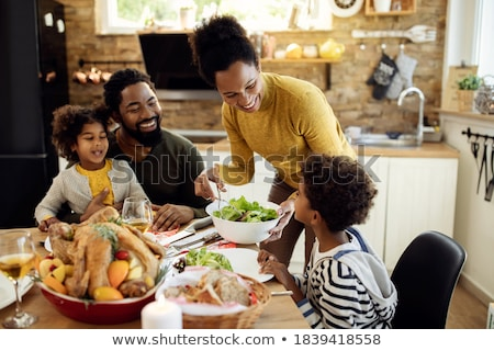 Served table on family holiday stock photo © anmalkov
