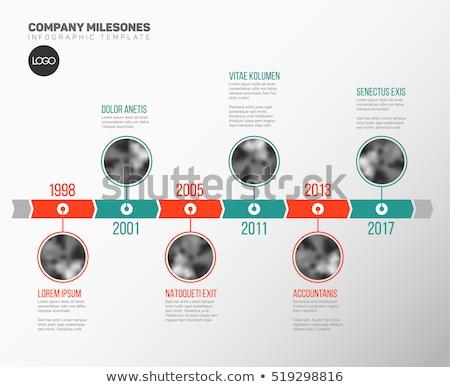 Timeline sprawozdanie szablon wektora ikona Zdjęcia stock © orson