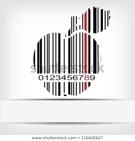 Barcode image on red background - vector illustration Stock photo © sdmix