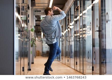 幸せ 意気揚々 ビジネスマン 作業 作業 肖像 ストックフォト © monkey_business