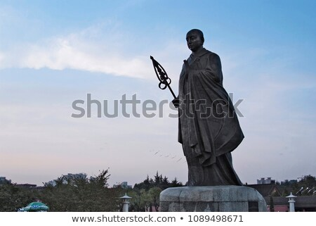 Chinois moine statue montagnes visage art Photo stock © andromeda