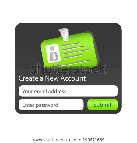 Create a new account form with green ID card. Element for websites and mobile applications Stock photo © liliwhite