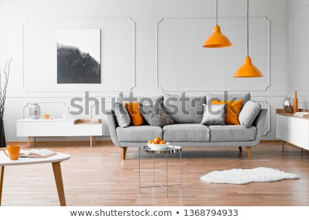 интерьер · синий · диване · желтый · сцена · стены - Сток-фото © hin255