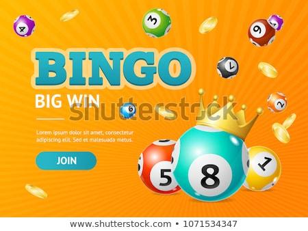 выиграть бинго иллюстрация деньги карт играть Сток-фото © adrenalina