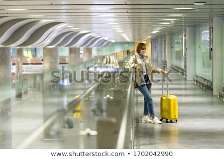 traveler with delay stock photo © ivonnewierink