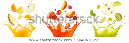 Kiwi suco fruto isolado branco fresco Foto stock © hin255