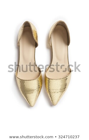 Woman gold shoes on background stock photo © cypher0x