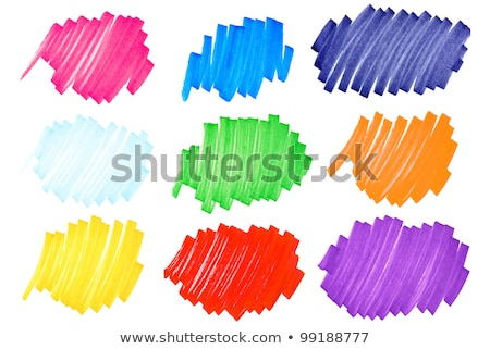 colorful felt tip pen scribble on white paper stock photo © latent