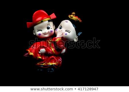 Kínai esküvő menyasszony vőlegény házasság rajz Stock fotó © dezign56