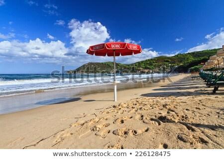 Guarda-chuva praia ilha Itália céu oceano Foto stock © Antonio-S