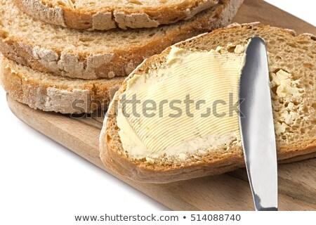 Sandviç tereyağı plaka bıçak tavuk Stok fotoğraf © hermestr2010