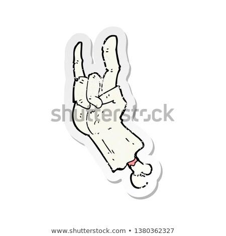 Cartoon зомби стороны рок символ Сток-фото © lineartestpilot
