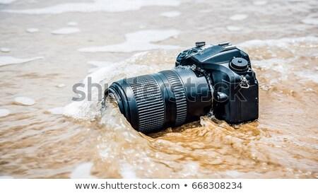 Rotto dslr fotocamera frame gruppo nero Foto d'archivio © aza