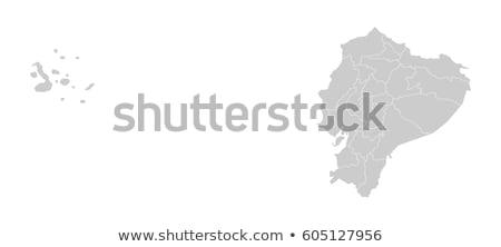 Kaart Ecuador Blauw reizen vector Stockfoto © rbiedermann