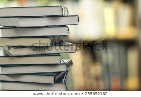 Soortgelijk boeken plank houten boek Stockfoto © Valeriy