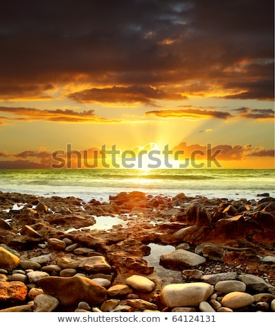 Beautiful sunset over the Atlantic Ocean. Canary Island, Tenerife Stock photo © amok